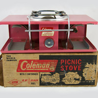 Vintage Pink Coleman Glamping Camping Stove w/Original Box - Barely Used