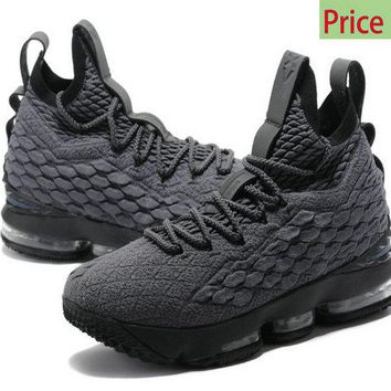 cheap authentic shoe websites 2018 Nike Shoes LBJ LeBron James 15 Wolf Grey Black sneaker