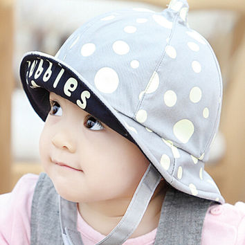 So Cute Kids Gray Fisherman Cap Comfortable Hot Summer Gift 44