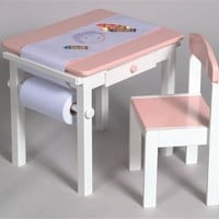 Art Table & Chair Set In Pink