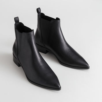 Leather Chelsea Boots - Black Leather - Chelseaboots - & Other Stories