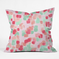 Lisa Argyropoulos Abstract Floral Throw Pillow