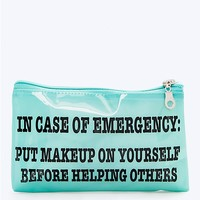 In Case Of Emergency Makeup Bag