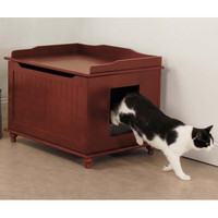 Multi-Functional Cat Litter Box/End Table