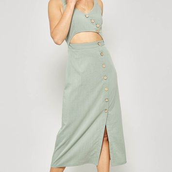 Mandy Midi Dress - Sage