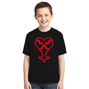 Heartless Logo (Red) - Kingdom Hearts Youth T-shirt