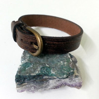 Brown Leather Wristband - Leather Bracelet - Bracelet for Men and Women - Brown Leather Bracelet
