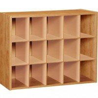 ClosetMaid 896800 15-Cube Laminate Shoe Organizer, Alder