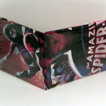 Comic Book Wallet// Spider-Woman, Spider-Man 2099, and Spider-Man