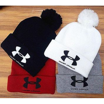 DCCKN7K Under Armour Woman Men Fashion Embroidery Beanies Winter Knit Hat Cap