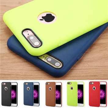 Official Brand Phone Cases For iPhone 6 7 Plus 5 5S SE Case New Design Candy Color Soft TPU  Protective Phone Shell Cover Fundas