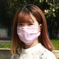 random colors Cute Anime Cotton lace Mouth Muffle Face Mask,women Girl FACE Mouth Gauze Mask Healthy Dust Masks
