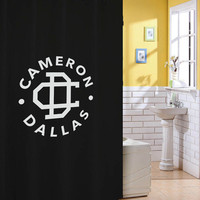 cameron dallas logo shower curtain