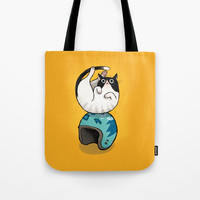 the wegg cat Tote Bag by Anyhowly