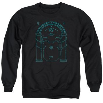 Lord Of The Rings - Doors Of Durin Adult Crewneck Sweatshirt Officially Licensed Apparel