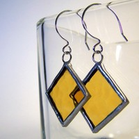 Mustard Seed Sterling Silver Stained Glass by faerieglass on Etsy