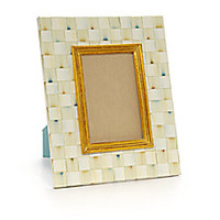 "MacKenzie-Childs - Parchment Check Photo Frame/ 4"" X 6"" - Saks Fifth Avenue Mobile"