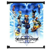 "Kingdom Hearts Game Fabric Wall Scroll Poster (16""x25"") Inches"