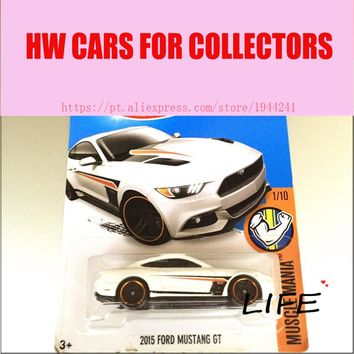 Hot 1:64 Cars wheels 2015 whtie mustang gt Car Models Metal Diecast Cars Collection Kids Toys Vehicle For Children Juguetes
