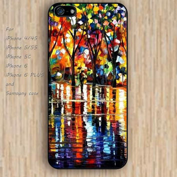 iPhone 5s 6 case colorful Walk the road of painting phone case iphone case,ipod case,samsung galaxy case available plastic rubber case waterproof B399