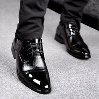 Business dress casual shoes leather shoes New England breathable tie shoes [8822147203]