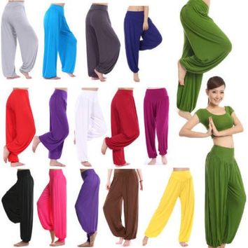 2017 Women Harem Pants Genie Aladdin Causal Gypsy Dance Pants Trousers Baggy Colourful Bloomers Palazzo Pants