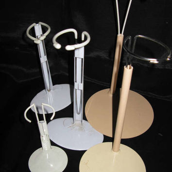 Doll Stand metal vintage 5 stands