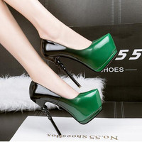 blue evening shoes sexy pumps green High Heels women shoes heels ladies Pumps pink shoes stilettos heels wedding shoes D981