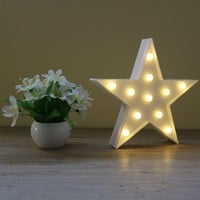 Star Light Marquee Sign LED Lamp