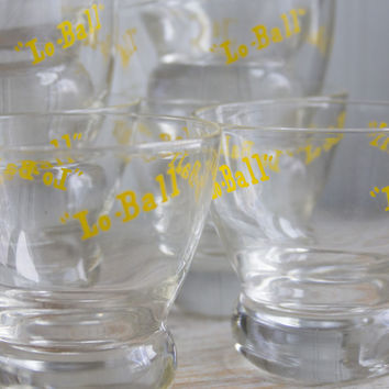 Vintage Drinking Glasses - Lo Ball Cocktail Whiskey Glass - Barware