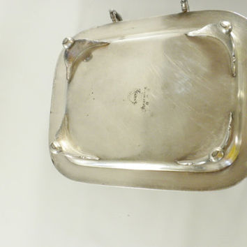W.M. Rogers Silver Plated Butter Dish, 3 Piece Butter Dish, Quadrupole