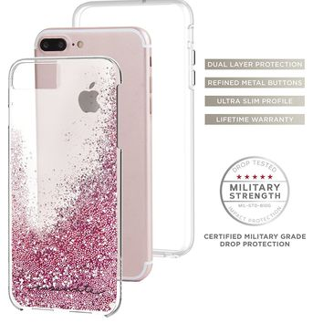 Case-Mate iPhone 7 Plus Case - WATERFALL - Cascading Liquid Glitter - Protective Design for Apple iPhone 7 Plus and iPhone 6 Plus - Rose Gold