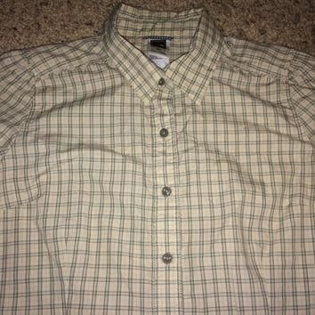 Sale!! Vintage The North Face casual button down women's tops shirt TNF dress Free US
