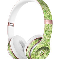 Green Damask v2 Watercolor Pattern V2 Full-Body Skin Kit for the Beats by Dre Solo 3 Wireless Headphones