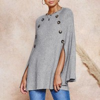 O-neck knitted cloak women sweater Casual plus size streetwear pullover jumpers Elegant ladies sweaters