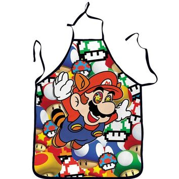 High On Shrooms Super Mario & Toad Cooking Apron