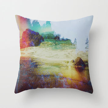 Both Worlds Throw Pillow by DuckyB (Brandi)