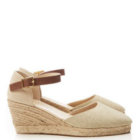 Cream Wedge Espadrille - Shoes