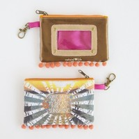 Create Your Own Sunshine #livehappy Zipper ID Pouch From Natural Life