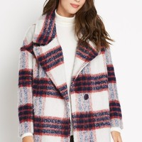 Plaid Priorities Wool Blend Coat