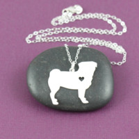 Pug Silver Necklace