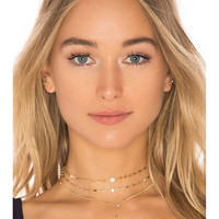 Ettika Forever Star Fall Choker Set in Gold
