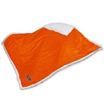 Licensed Oklahoma State Cowboys Official Sherpa Throw by Logo Chair Inc. KO_19_1