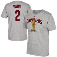Kyrie Irving Cleveland Cavaliers adidas 2016 NBA Finals Champions Name & Number T-Shirt - Heather Gray