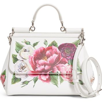 Dolce&Gabbana Medium Miss Sicily Leather Satchel | Nordstrom