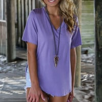PIKO Endless Love Lilac Short Sleeve