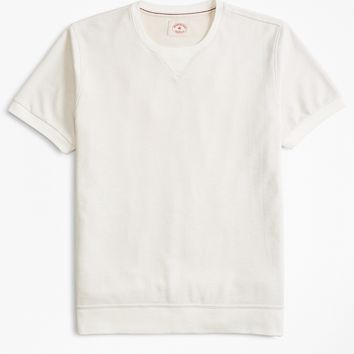 French Terry Short-Sleeve Sweatshirt - Brooks Brothers