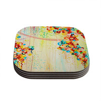 "Ebi Emporium ""Summer in Bloom"" Coasters (Set of 4)"