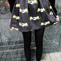 Cartoon Print Harajuku Style Skirt - OASAP.com grunge pastel gough eyeball cute black china