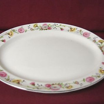 Vintage Taylor Smith & Taylor China Dinnerware  USA  Premier  Oval platter